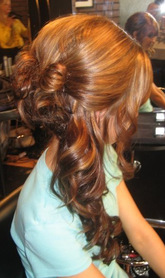prom hair do side swept curls