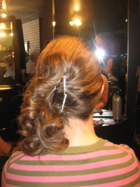 side swept hair prom graduation weddings