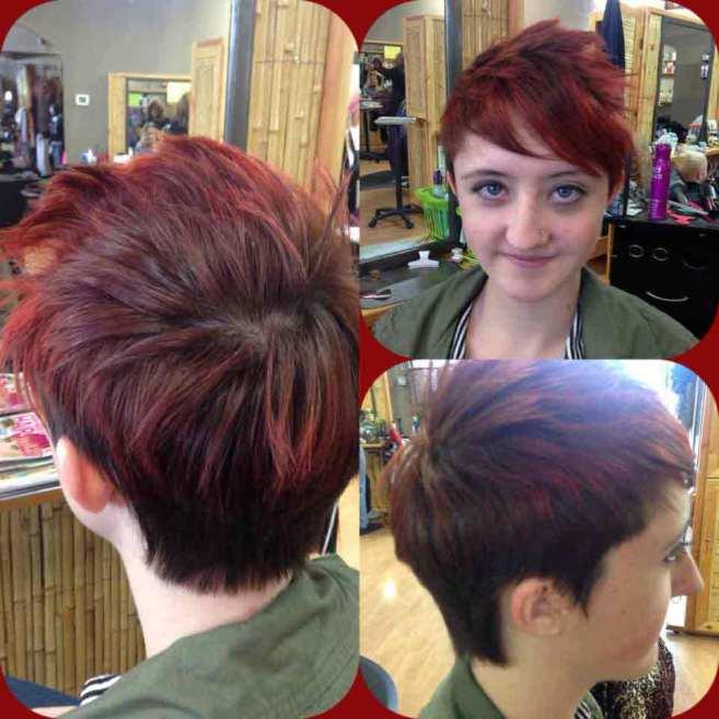 cute short red hair and hair cut parker co