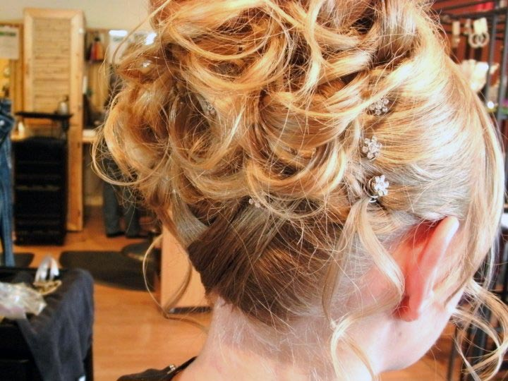 gorgeous fancy hair do with diamond pins parker colorado