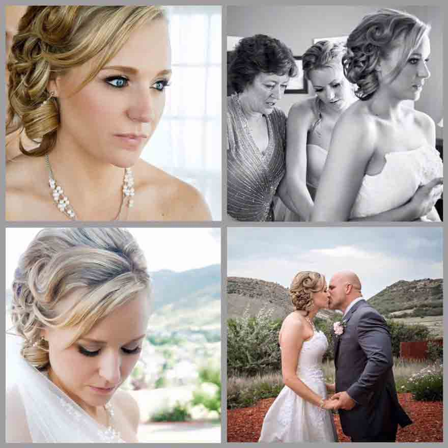 a gorgeous bride on her beautiful day. simple blond updo