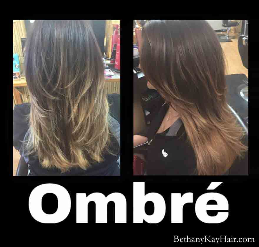 Ombre' hair color by Bethany Parker Colorado