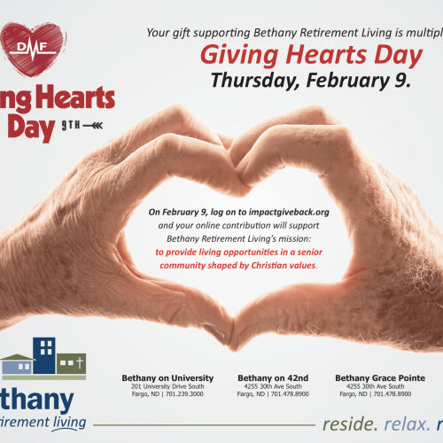 Giving Hearts Day | Bethany Retirement Living