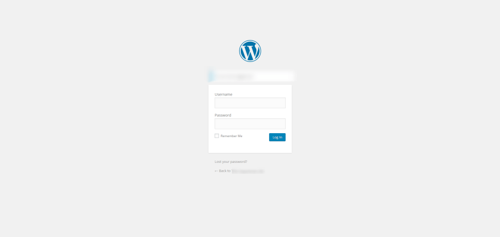 photo of wordpress admin login page