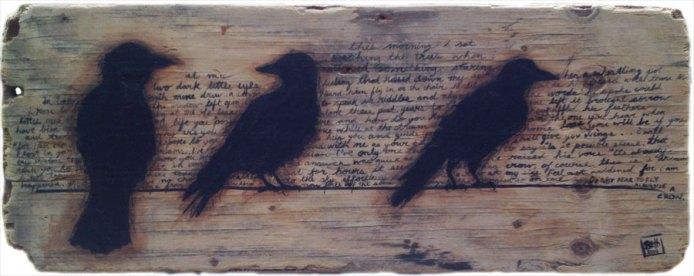 "Acrylic on Driftwood, 14""x36"""