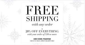 January 3-5 2015 Free shipping on ANY Avon Order with code FSANYAE
