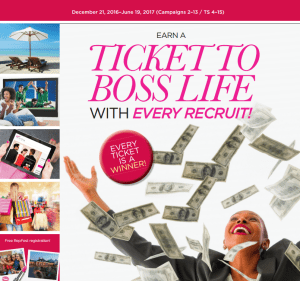 Avon Ticket to Boss Life Incentive