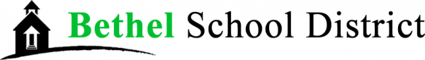 Bethel Website Logo black school house followed by the words Bethel School District