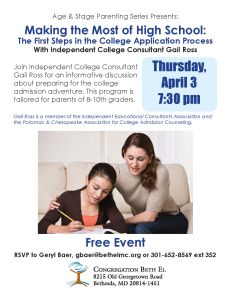 Age and Stage Parenting Series: Making the most out of high school: the college application process