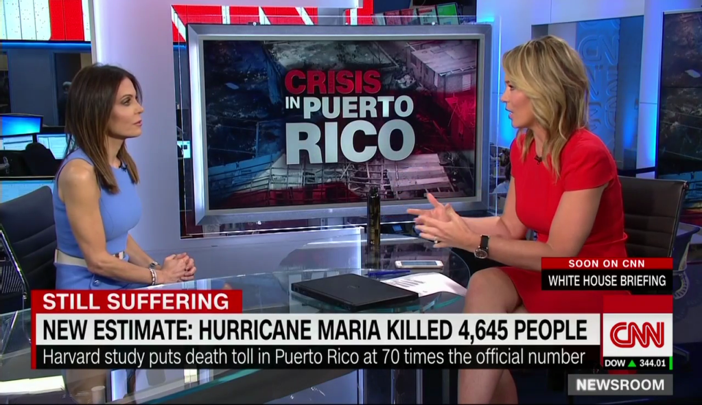 Bethenny Frankel and CNN's Brooke Baldwin Discuss Crisis & Providing Support to Puerto Rico