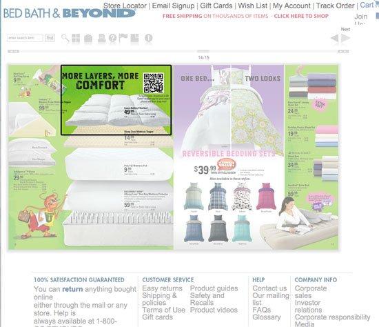 QR code ad for mattress