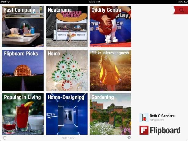Flipboard ipad home screen