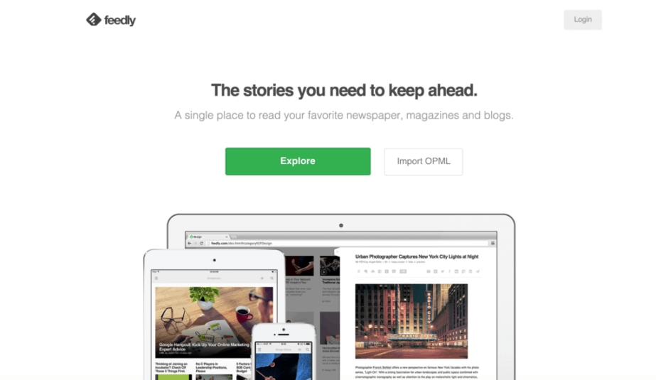 feedly-home-page