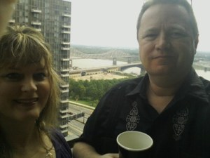 Me and Ray on balcony, St Louis trip