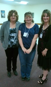 Karen Wells, Shannon, and me