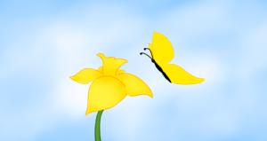 Daffodil & Butterfly. Copyright 2013 Leah Jones