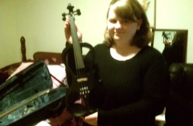 Leah and her electric violin