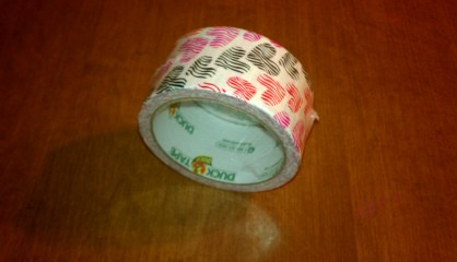Colored heart duck tape