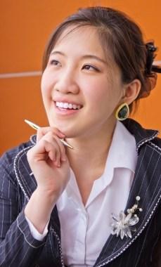 Asian woman writer