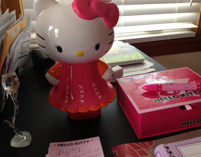 Hello, Kitty decorations for desk