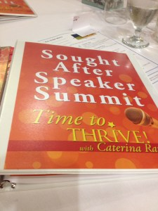 Sought After Speaker Summit binder