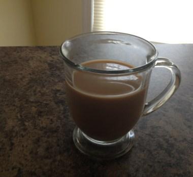Hot creamy coffee