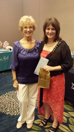 Joanie Qualls, winner of Rochelle Valasek's $250 coaching package, and me