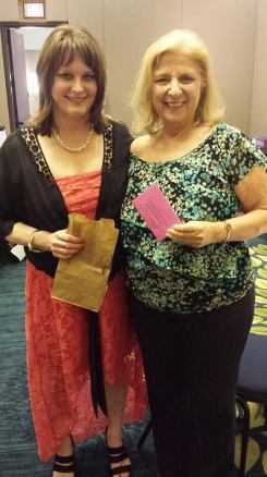 Me & Anita Andreas, winner of Susan Evan's giveaways