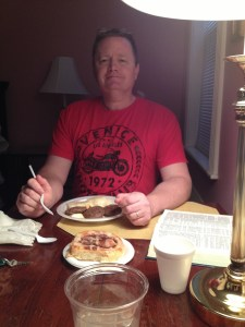 Ray loved the breakfast!