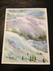 purple mountains card