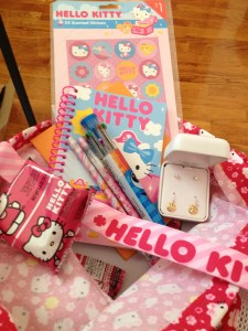 Hello Kitty package from Shelley