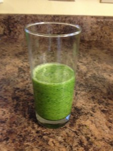 Smoothie with greens