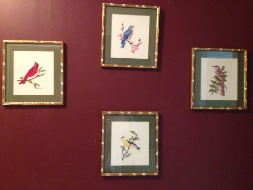 hand-stitched bird pictures