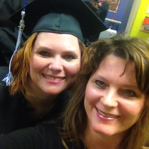 Me with my daughter Heather before her college graduation ceremony