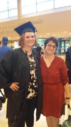 Heather & her friend Lindsey after her graduation