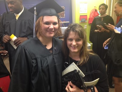 Heather & me before her graduation ceremony