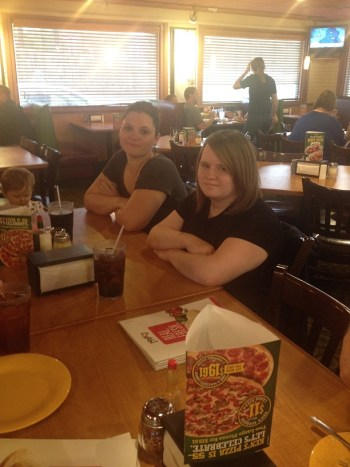 Heather & Leah--Mazzio's Pizza