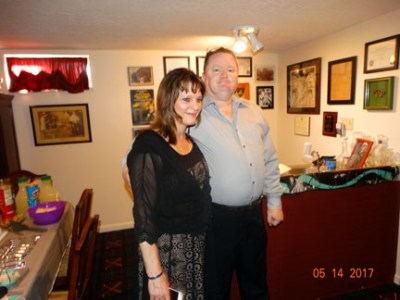 "Me & Ray at 25th ""silver"" wedding anniversary & home purchase party"
