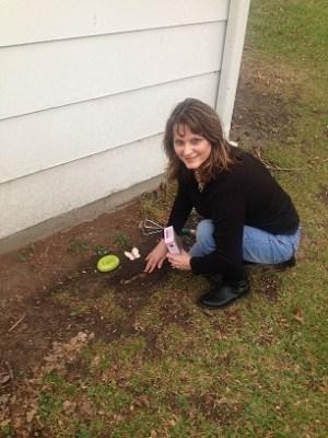 me planting wildflower seeds