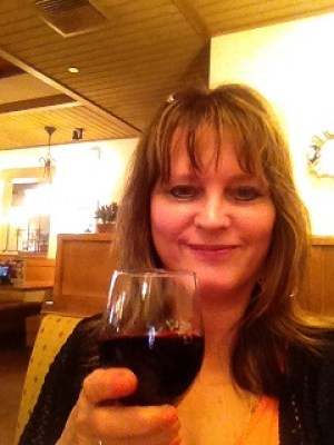 Me with Italian Moscato red wine