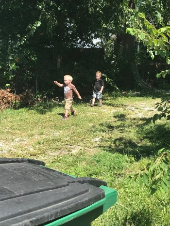little boys playing