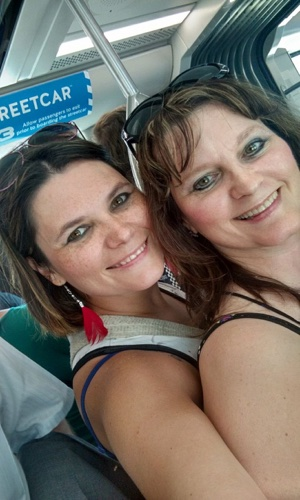 My beautiful daughter Heather & me on KC streetcar