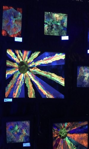art in black light tent