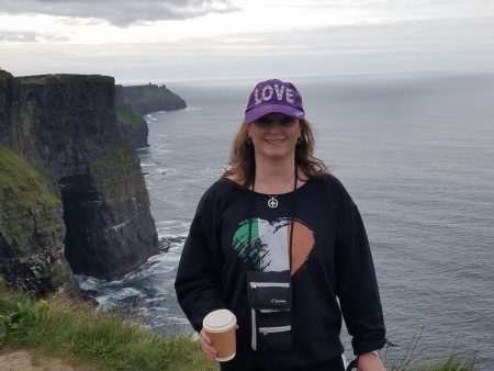 me with my coffee at the Cliffs of Moher