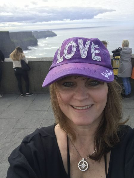 Me at Cliffs of Moher--so happy! <br/>Thank You, Jesus!