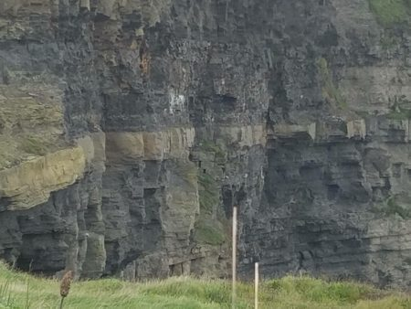 The Cliffs of Moher have a rare rock formation that's usually only visible under the sea.