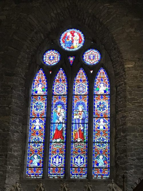 Stained glass windows in St. Mary's Cathedral