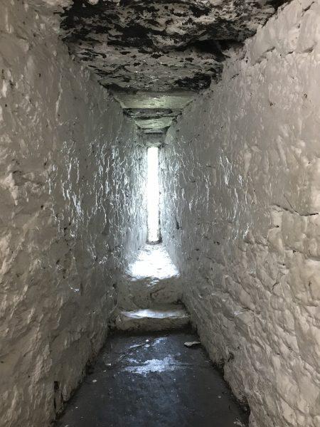 castle's narrow window