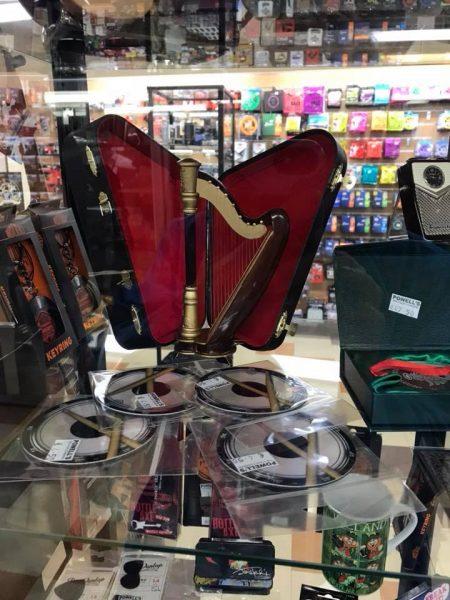 Harp in music store