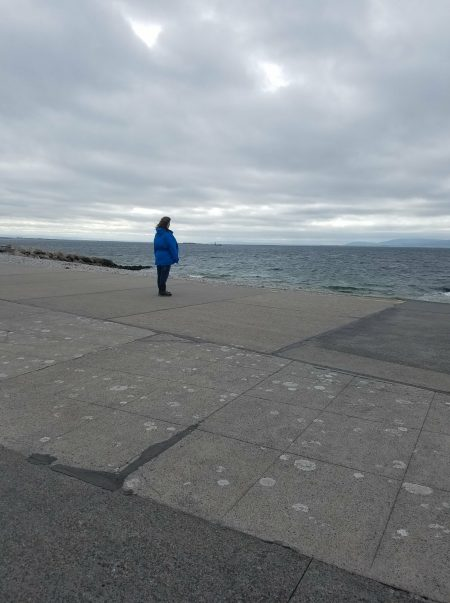 me looking out at Atlantic ocean in Galway